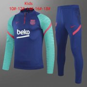 20-21 Barcelona Blue Soccer Football Training Suit Kids