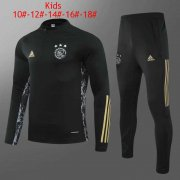 20-21 Ajax UCL Black Kids Soccer Football Training Suit