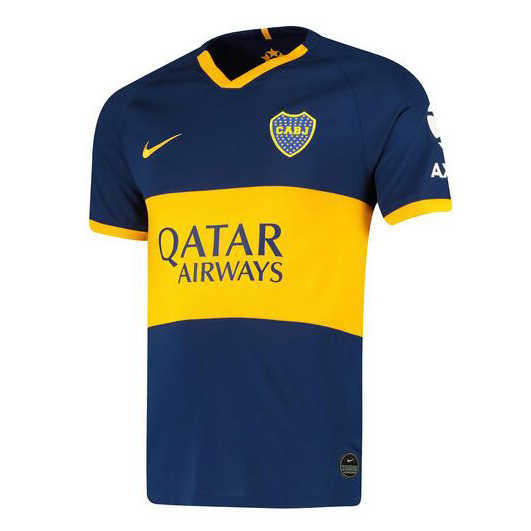 2019-20 Boca Juniors Home Men Soccer Football Kit