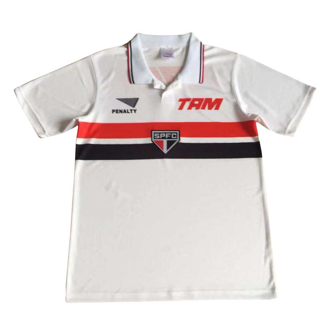 1994 Sao Paulo FC Retro Home Men Soccer Football Kit