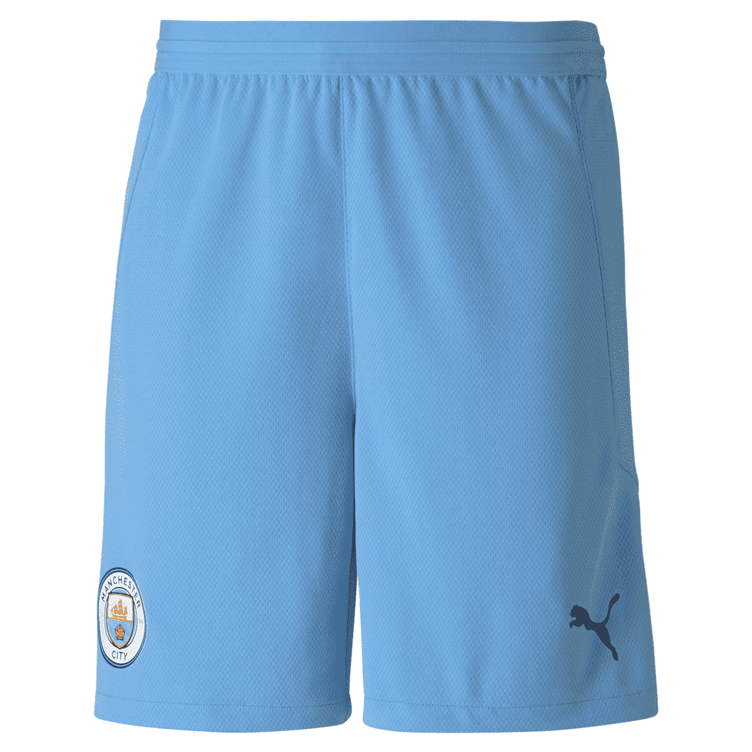 20-21 Manchester City Home Light Blue Man Soccer Football Short